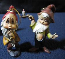 Gnome Ornaments: Set of 2