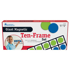 Learning Resources Giant Magnetic Ten Frame Set 4 Frames 40 Pieces 6644