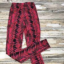 Charlotte Russe Leggings Printed Medium Pants Stretch Tribal Abstract Zipper 80s