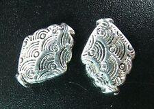 20pcs Tibetan Silver Wave Diamond Spacer Beads R762