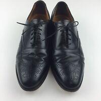 Bostonian Classics Men Size 11 D B Black Leather Wingtip Oxfords Dress Shoe