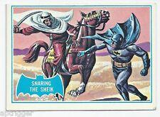 1966 Topps Batman Blue Bat with Bat Cowl Back (8B) Snaring The Sheik