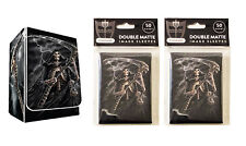 100 Reap It! Reaper MTG Double Matte Image Sleeves plus Deck Box Pokemon
