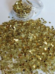 2ml Pot Solid Gold Stars 3mm Craft Embellishment Cards Table sprinkle Resin Xmas