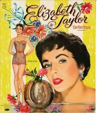 VINTAGE UNCUT 1956 ELIZABETH TAYLOR PAPER DOLLS ~HD LASER REPRODUCTION~LO PR~H
