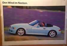 BMW Z3 Roadster Factory Original Car Poster Extremely Rare!