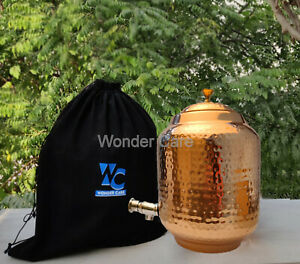 100% Copper Water Dispenser Storage Water Tank Copper Vessel Ayurveda Benefits