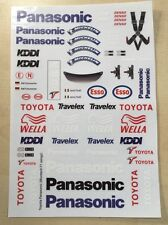 1/10 Sponsor Decal Sheet T F1 for body TRF102 F104 F103 XRAY Xi Montech wing set