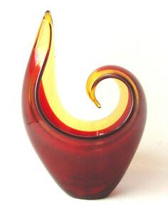 Vase Zipfelvase Murano Seguso Flavio Poli Sommerso Midcentury Glas Rockabilly