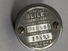 Bliley Electric Quartz Crystal Unit Frequency Control 1959.5 Kc Ham Radio
