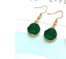Dangle Earrings Green Quartz Drop
