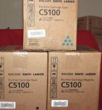 (3X) Genuine Ricoh Savin Lanier Toner Cartridges C5100 828350 828352 828353 BCM