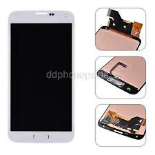 White Home Flex + LCD Screen Touch Digitizer For Samsung Galaxy S5 i9600 G900A