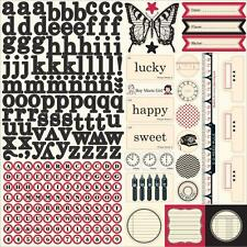2 Jenni Bowlin Studio My Thoughts Element Stickers Sheet Alphabet Butterfly More