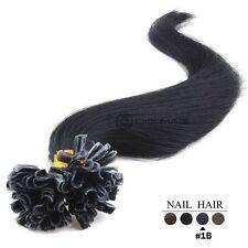 50-100-150-200 Extensions De Cheveux Pose A Chaud Naturels Remy 49-60CM 0,5G/1G