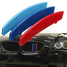 3D M-Colored Kidney Grille Sport Insert Trim Cover Strips For 2004-2010 BMW E60
