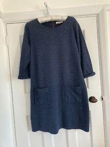 Seasalt Dress Size 14 Navy