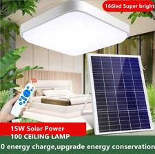 100W 166Led Solar Power Ceiling Fixtures Light Indoor Bedroom Livingroom Lamp Us