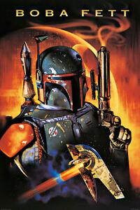 "Star Wars - Movie Poster / Print (Boba Fett & Death Star) (Size: 24"" X 36"")"