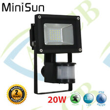 Floodlight IP66 High Power 20W Pro2 SMD LED Outdoor Security 6000K with PIR Moti