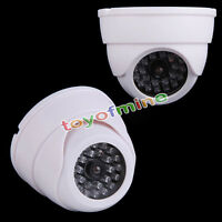 Indoor Fake Dome Camera Flashing 30 LED Home Dummy Security CCTV Surveillance