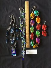 Beautiful Lot of 3 Necklace and Earring Sets