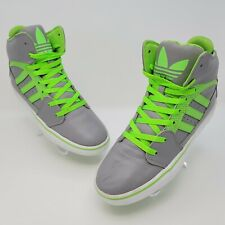 Adidas Mens Hi Top Grey Green Athletic Sneakers Shoes Size US 8 EW791002 G20008
