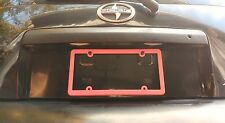 PINK -THIN- BLANK with no words THIN FRAME easy ez view License Plate Frame