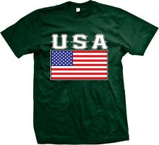 USA Flag United States of America Stars And Stripes Red White Blue Mens T-shirt