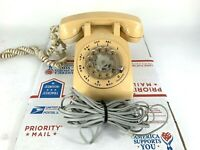 Vtg Western Electric Series 500DM Retro White Rotary Dial Telephone Bell System
