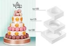 SILIKOMART Wonder Cake 3 Tier round Cake Kit moulds set of 3 - New