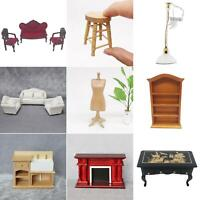 Mini 1:12 Wooden Dollhouse Miniature Living Room Furniture Accessories Kids Toy
