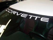C4 Corvette 1984-1996 Windshield Decal - Corvette Lettering - Color Selection