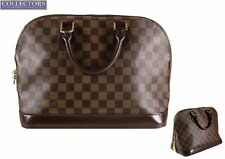 Ladies Authentic Louis Vuitton ALMA PM Brown Damier Ebene Canvas Handbag FL0045