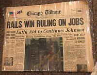 Chicago Tribune Newspaper - November, 27, 1963 - Pres. Johnson, Kennedy,
