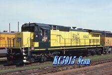 "C&NW  C40-8  #8542 ""Wyoming Centennial""  -  Original Slide"