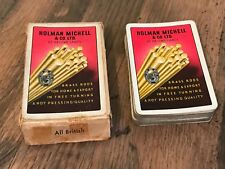 Vintage Holman Michell & Co Ltd St Helens Lancashire J Waddington Playing Cards