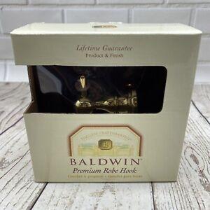 BALDWIN Edgewater SINGLE ROBE HOOK Seacrest Polished SOLID BRASS NOS 3505-030