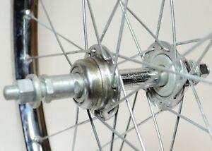 """VINTAGE SUZUE UKAI 22"""" X 1.75 BICYCLE DIMPLED 28 SPOKE REAR WHEEL 457 MM BSD"""