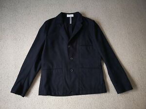 PAUL SMITH (RED EAR). NAVY BLUE 100% WOOL '3 BUTTON' JACKET. SIZE, UK. XL.