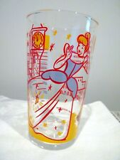 VINTAGE DISNEY CINDERELLA PROMO COLLECTOR'S GLASS #7 OF 8 CIRCA 1950'S