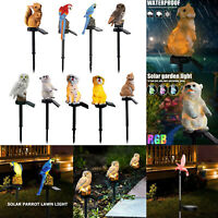 Owl Animal Ornament Solar LED Light Lawn Lamp Outdoor Yard Garden Lighting Decor