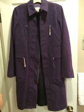 BCBG Max Azria Plum Cotton 3/4 Length Coat  Sz Small Brand New !!