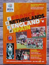 Programm Euro96 England; Viertelfinale Frankreich-Niederlande / England-Spanien