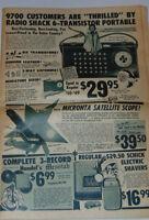 VINTAGE XMAS 1957 RADIO SHACK ADVERTISING FLYER! TRANSISTOR RADIO/AMPS/GIFTS/+++