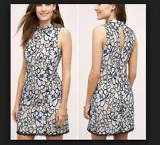Anthropologie Plenty by Tracy Reese Lace Dress Blue Black Sz 0P Petite NWT!