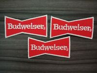 3 pcs BEER BUDWEISER Patch Iron on Embroidered or Sew on Shirt Jacket bag hat