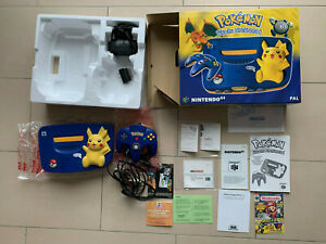 Nintendo 64 Pikachu Konsole - OVP/CIB/Boxed - PAL/EUR - TOP Zustand / near Mint