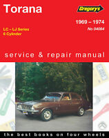 Holden Torana LC LJ 1969-1974 Repair Manual