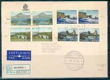ICELAND REYKJAVIK 10/12/1966 VIEWS PAIRS R-COVER TO NEW YORK 10/14/1966